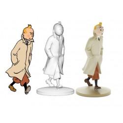 Figurine Moulinsart Tintin - Tintin en trench-coat (kiosque)