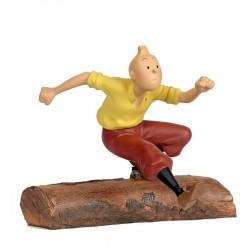 Leblon Moulinsart Tintin - Tintin Tronc d'arbre