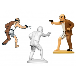 Figurine Moulinsart Tintin - Alonzo Perez le cerveau (kiosque)