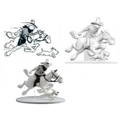 Figurine Moulinsart Tintin - Tintin cow-boy et Milou en Amérique (kiosque)