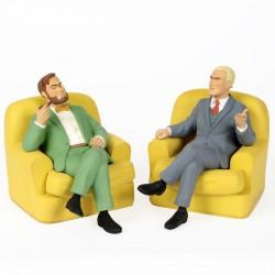 Leblon Delienne Jacobs Blake & Mortimer - Blake et Mortimer dans leur fauteuil (jaune)