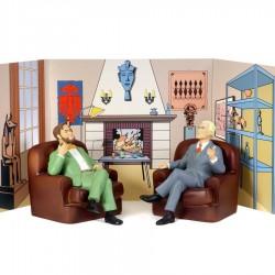 Leblon Delienne Jacobs Blake & Mortimer - Blake et Mortimer dans leur fauteuil (cuir)