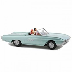 Aroutcheff Berthet Pin-up - Ford Thunderbird convertible 1963 verte