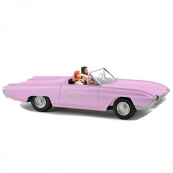 Aroutcheff Berthet Pin-up - Ford Thunderbird convertible 1963 rose