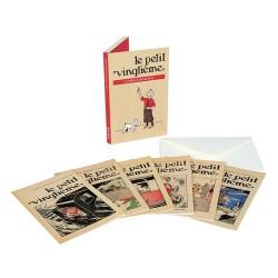 """Papeterie Moulinsart Tintin - Set de 6 CP """"Petit XXème"""" + enveloppes"""