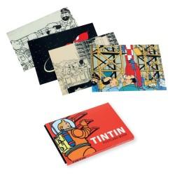 Papeterie Moulinsart Tintin - Set de 16 CP Tintin et la Lune