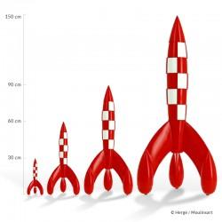 Figurine Moulinsart Tintin - Fusée lunaire 60 cm