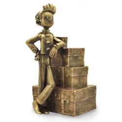 Pixi Franquin Spirou - Spirou et la pile de bagages (bronze)