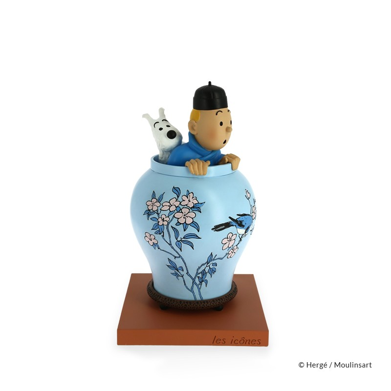 Figurine Moulinsart Tintin - La potiche Lotus Bleu (Icônes)