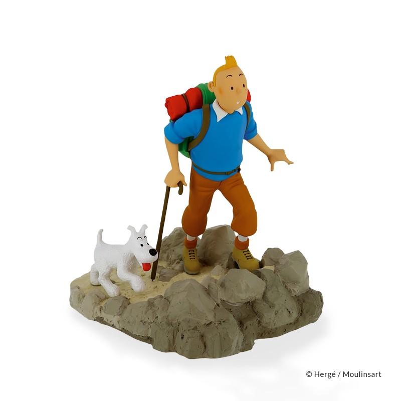 "Figurine Moulinsart Tintin - Tintin et Milou randonneur ""Objectif Lune"""