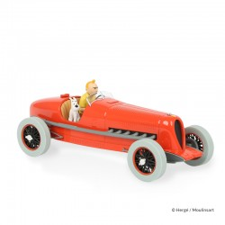 Véhicule Moulinsart Tintin - Le bolide rouge Cigares (Echelle 1/24)