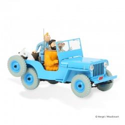 Véhicule Moulinsart Tintin - La Jeep bleue Objectif Lune (Echelle 1/24)