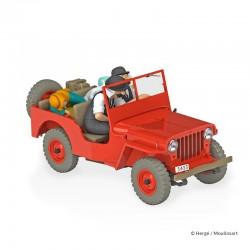 Véhicule Moulinsart Tintin - La Jeep rouge Or Noir (Echelle 1/24)