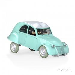 Véhicule Moulinsart Tintin - La Citroën 2CV des Dupondts Affaire Tournesol (Echelle 1/24)