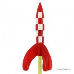 Figurine Moulinsart Tintin - La fusée lunaire au décollage (Icônes)