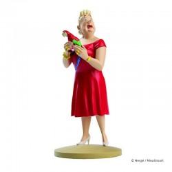 Figurine Moulinsart Tintin - Castafiore au perroquet (12 cm)