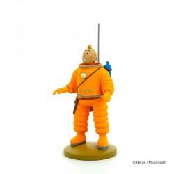 Figurine Moulinsart Tintin - Tintin cosmonaute Lune (12 cm)
