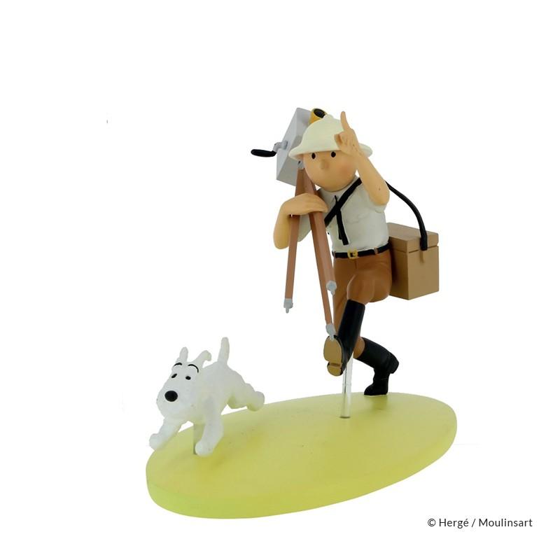 Figurine Moulinsart Tintin - Hors série colorisé Tintin cinéaste Congo
