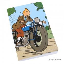 "Papeterie Moulinsart Tintin - Carnet de Note Tintin GM ""Moto"""