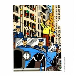 Papeterie Moulinsart Tintin - Chemise plastique A4 Tintin Amérique