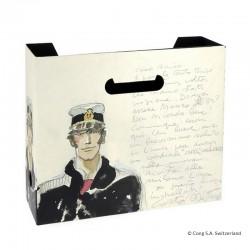 """Papeterie Pratt Corto Maltèse - Boîte à archives  Corto """"Portrait Aquarelle"""""""