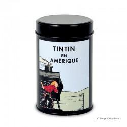 """Moulinsart Tintin - Boîte à café Amérique """"Train"""""""