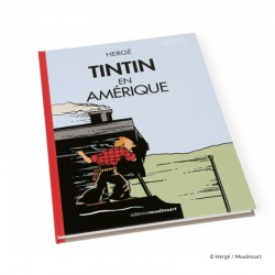 Livre Moulinsart Tintin - Album Tintin en Amérique colorisé