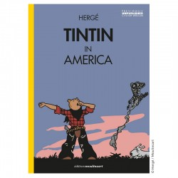 Livre Moulinsart Tintin - Album Tintin in America colorized (Yawning)