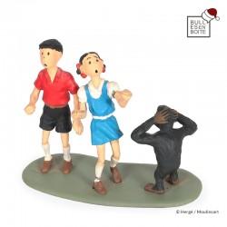 Leblon Delienne Tintin - Jo, Zette et Jocko surpris