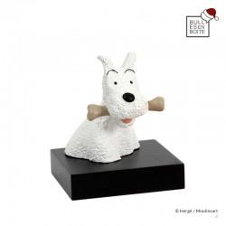 Leblon Moulinsart Tintin - Buste sur socle Milou os