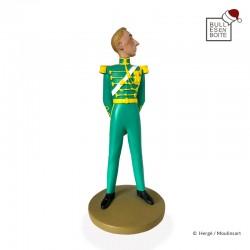 Figurine Moulinsart Tintin - Hergé en officiel de la cour Syldave (kiosque)