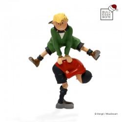 Leblon Moulinsart Tintin - Quick et Flupke saute-mouton