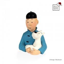Pixi Moulinsart Tintin - Petit buste Tintin chinois Regout