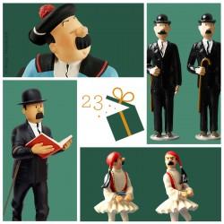 Leblon Moulinsart Tintin - Buste sur socle Dupond marin