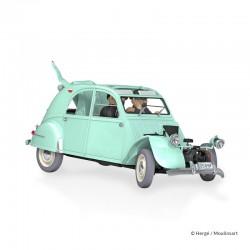 Véhicule Moulinsart Tintin - La Citroën 2CV cassée des Dupondts (Echelle 1/24)
