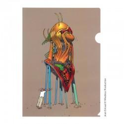 Moebius Jean Giraud - Chemise plastique A4 Moebius Autoportrait