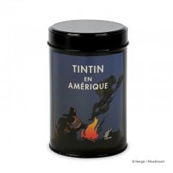 """Moulinsart Tintin - Boîte à café Amérique """"Feu de camp"""""""