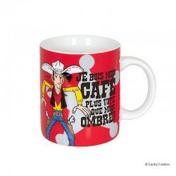 """Koenitz Morris Lucky Luke - Mug Lucky Luke """"Je bois mon café plus vite que mon ombre!"""""""