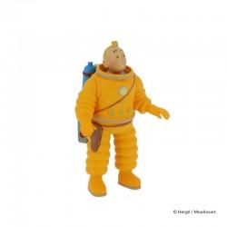 Figurine Moulinsart Tintin - Tintin cosmonaute 8 cm (PVC)