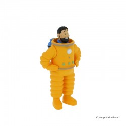 Figurine Moulinsart Tintin - Haddock cosmonaute 8 cm (PVC)