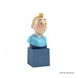 Figurine Moulinsart Tintin - Buste PVC sur socle Tintin