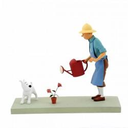 "Fariboles Moulinsart Tintin - Tintin et Milou ""La Rose"""