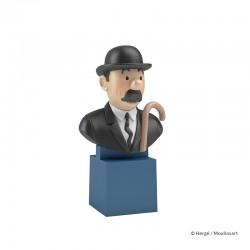 Figurine Moulinsart Tintin - Buste PVC sur socle Dupont
