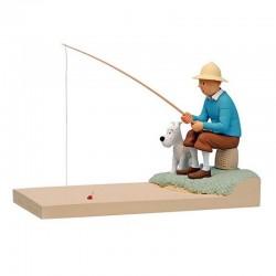 "Fariboles Moulinsart Tintin - Tintin et Milou ""A la pêche"""