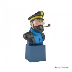 Figurine Moulinsart Tintin - Buste PVC sur socle Haddock