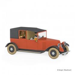 Véhicule Moulinsart Tintin - Le Taxi Renault rouge (Echelle 1/24)