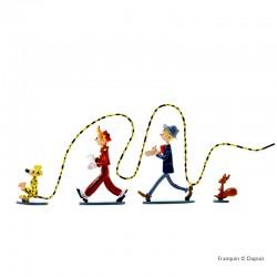 Pixi Franquin Spirou - Spip, le Marsupilami, Spirou et Fantasio : 4 héros dans le vent
