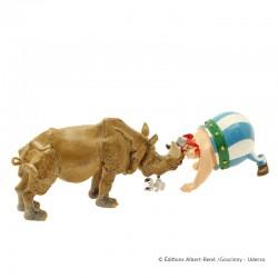 Pixi Uderzo Astérix - Obélix nez à nez avec le rhinocéros