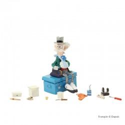 Pixi Franquin Spirou - Champignac assis sur sa cantine