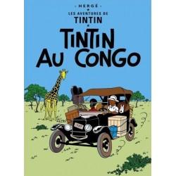 Poster Moulinsart Tintin - Couverture Album Congo